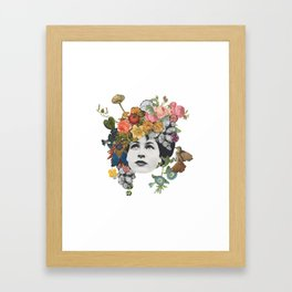 Head in the Flowers Framed Art Print