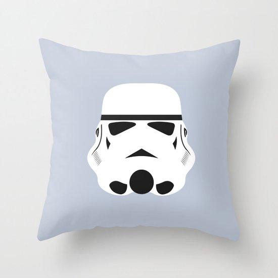 Star Wars Minimalism - Stormtrooper Throw Pillow