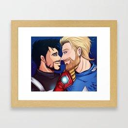 beard boyfriends Framed Art Print