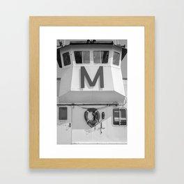 M.  Framed Art Print