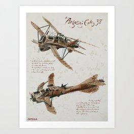Air Argosy 38. Observation Craft Art Print