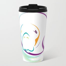 Rainbow Manatee Travel Mug