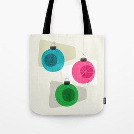 Retro Holiday Baubles Tote Bag