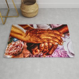 We Are All Humans  Rug