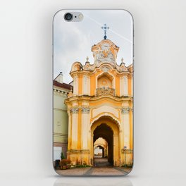 Ancient Basilian gate at the Old city in Vilnius iPhone Skin