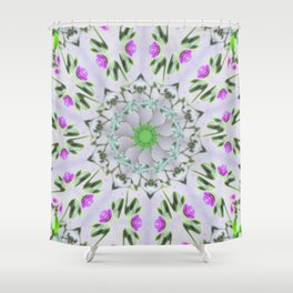 Purple Wildflower Kaleidoscope Art 7 Shower Curtain