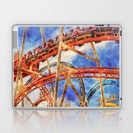 Fun on the roller coaster, close up Laptop & iPad Skin