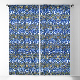 Eyebright green and yellow  sample (1882-1883) by William Morris Blackout Curtain