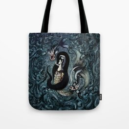 Electric Mermaid Tote Bag