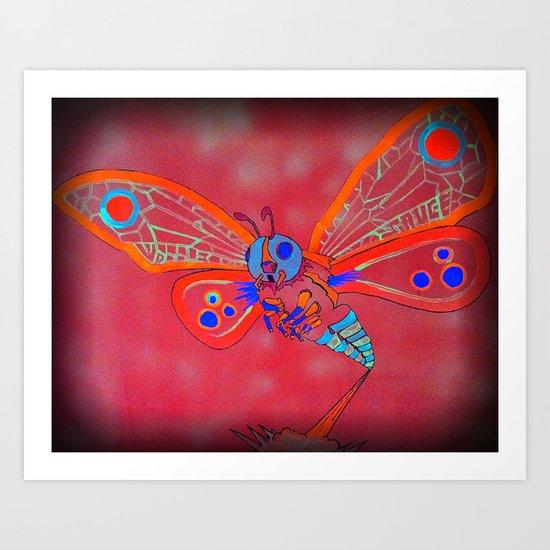 Bad Ash Mothra Funker for Wobblesauce Art Print