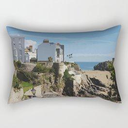 Wales Tenby Beach  Rectangular Pillow