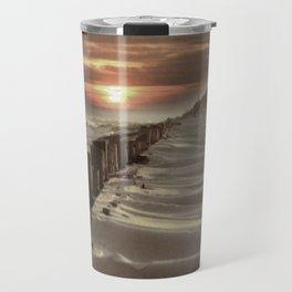 Fort Tilden Beach NYC sunset Travel Mug