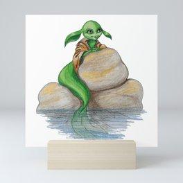 Mermaid of species unknown Mini Art Print