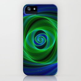 Green blue infinity iPhone Case