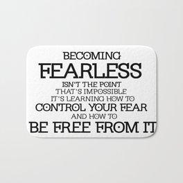 BECOMING FEARLESS - Divergent Bath Mat