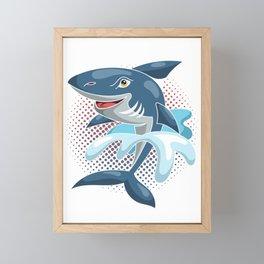 Cool Way Shark Framed Mini Art Print