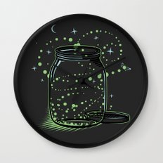 The Empty Jar of Fireflies Wall Clock