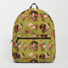 Makers Gonna Make Pattern Avocado Backpack