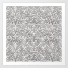 SUN TILE CEMENT LIGHT Art Print