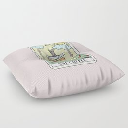 COFFEE READING Floor Pillow