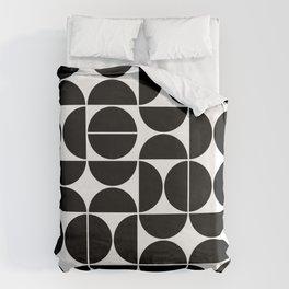 Mid Century Modern Geometric 04 Black Bettbezug