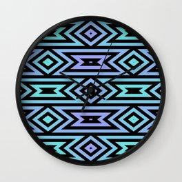 Lilac/Teal Tribal Wall Clock