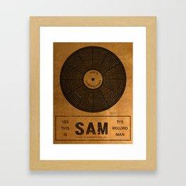 Sam the Record Man Vintage Framed Art Print