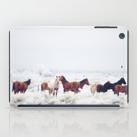 large iPad Cases featuring Winter Horseland by Kevin Russ