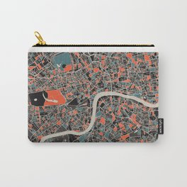 London Multicoloured Print Carry-All Pouch