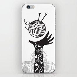 Yarn Love - Black iPhone Skin