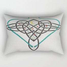 Celtic Rose Vase Rectangular Pillow