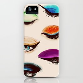 Shadows and Eyeliner iPhone Case
