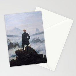 Caspar David Friedrich - Wanderer above the Sea of Fog - 1817 Stationery Cards