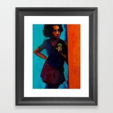 On The Corner Framed Art Print