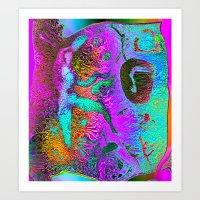ancient glyphs DISTORT Art Print