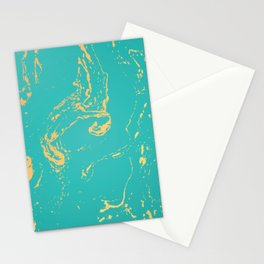 Green Gold Marble  Stationery Cards