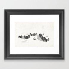 Le Village Framed Art Print