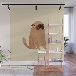 Brown Doggy Wall Mural