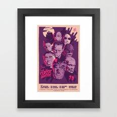 CLASSIC MONSTERS Framed Art Print