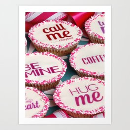 message cup cakes Art Print