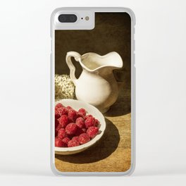 Summer day with raspberries Clear iPhone Case