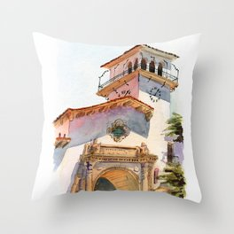 Santa Barbara Courthouse Throw Pillow