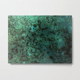 Painting Under UV Spectrum, Unique Blend Of Colors, Original Contemporary Artwork, Copper Metal Print