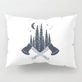 Axes. Double Exposure Pillow Sham
