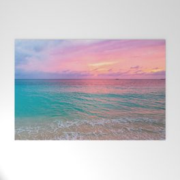 Aerial Photography Beautiful: Turquoise Sunset Relaxing, Peaceful, Coastal Seashore Welcome Mat