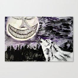 On The Full Moon Canvas Print