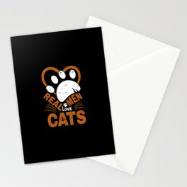 Real Men Love cats Animal Pets Stationery Cards