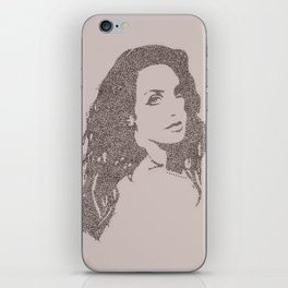 pink lana dl rey iPhone Skin