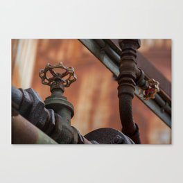 Rusty tubes Canvas Print