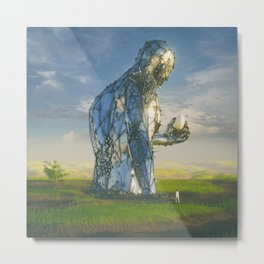 ROBOT FINDS EGG (everyday 05.24.16) Metal Print